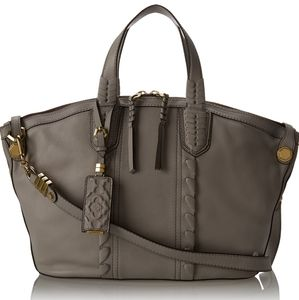 orYANY   Cassie Pebbled Leather Braided Satchel